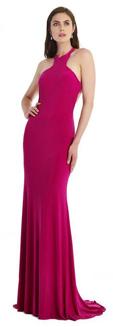 Длинное в пол платье со шлейфом Morrell Maxie