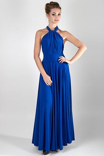 Синее вечернее платье-трансформер