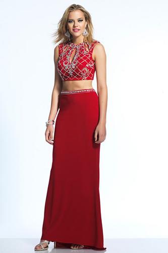 Вечернее раздельное платье топ и юбка
