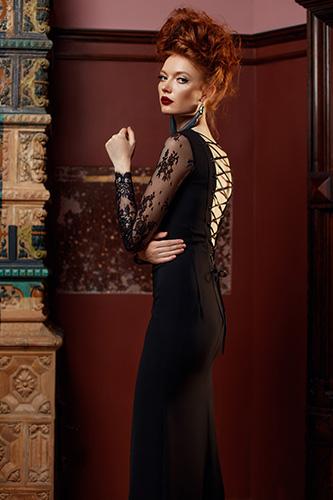Роскошное черное вечернее платье