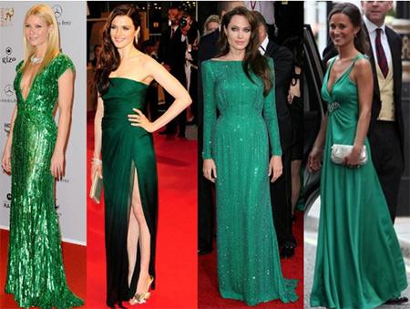 Вечерние зеленые платья селебрити фото. Блог GraceEvening
