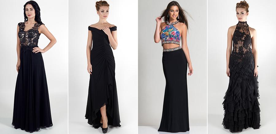 Вечернее черное платье фото. Салон платьев GraceEvening