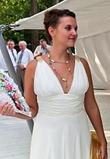 Юлия в платьях из нашего салона