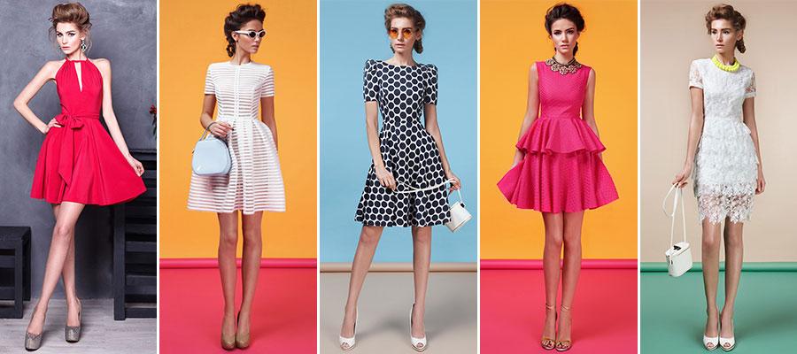 Коктейльные платья с оборками, воланами в салоне платьев GraceEvening