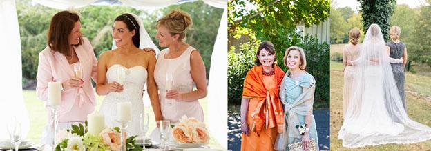 Мамы жениха и невесты в платье одинакового стиля