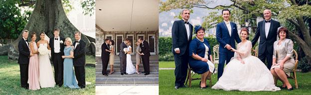 Платья мам жениха и невесты с одинаковой длиной подола