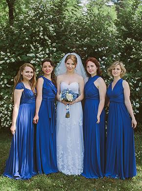 Фото платья в греческом стиле для подружек невесты