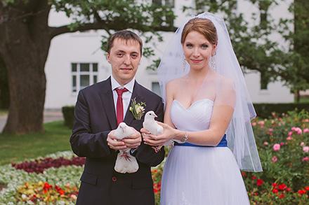 Любовь и голуби. Свадебная фотосессия Ирины и Алексея
