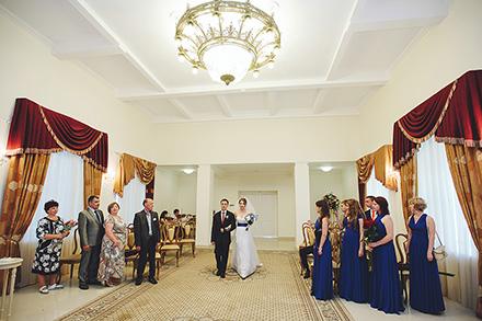 Торжественная церемония во Дворце бракосочетания. Свадьба Ирины и Алексея
