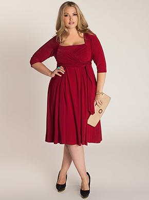 Красное вечернее платье размер plus size