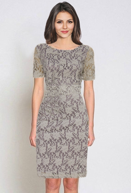 Короткое ажурное платье Мануэлла