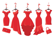 примерка 5 платьев