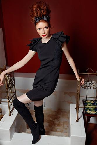 Оригинальное платье-футляр. Салон GraceEvening