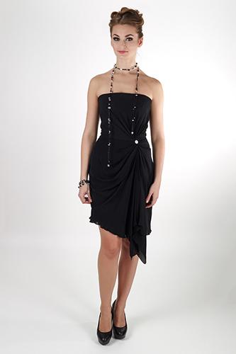 Элегантное черное платье без бретелей. Салон GraceEvening