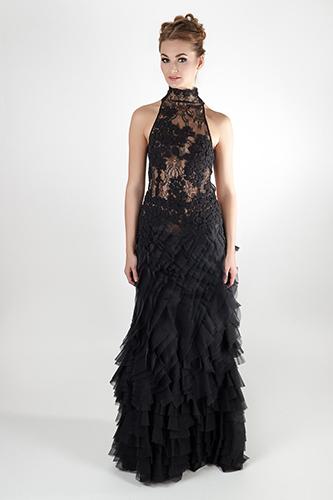 Роскошное длинное платье с открытой спиной. Салон GraceEvening