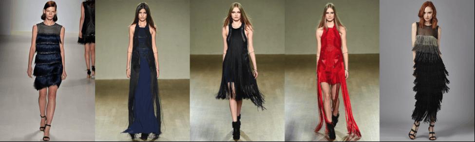 Вечерние платья - бахрома