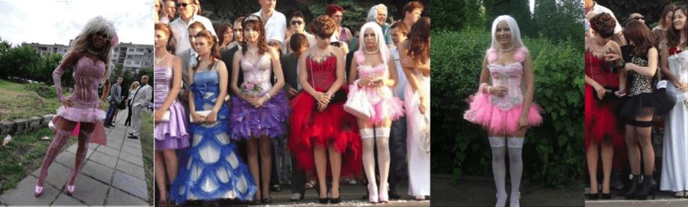 Выпускное платье барби