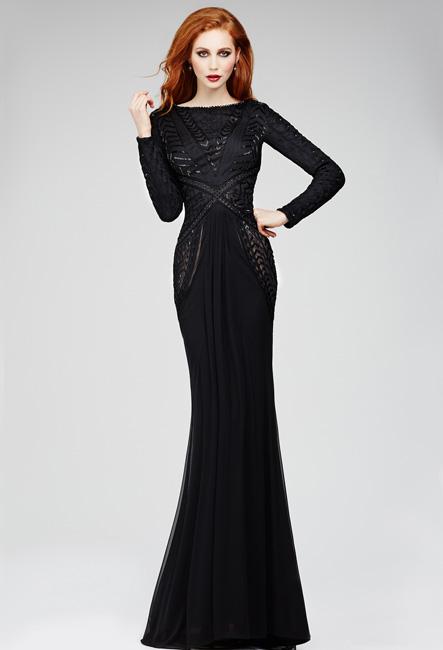Черные длинные платья заказать