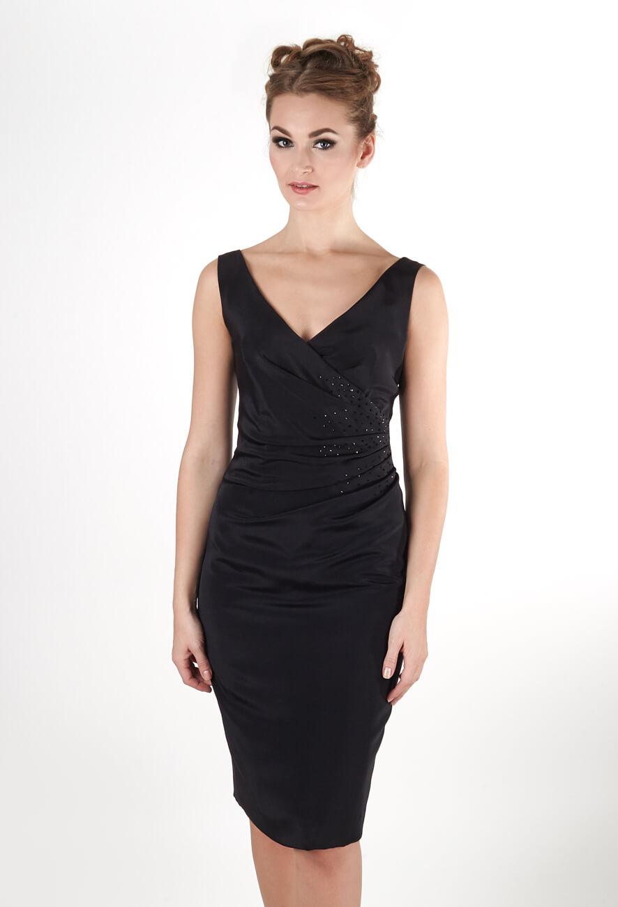 Маленькое черное платье из шелка   Купить GraceEvening.ru Москва 213093685f1