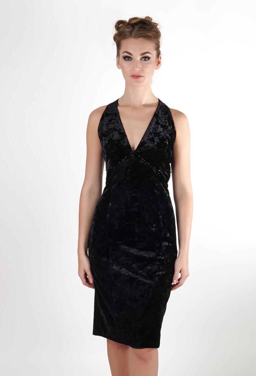 Маленькое черное платье из бархата   GraceEvening.ru Москва 64fd4709891