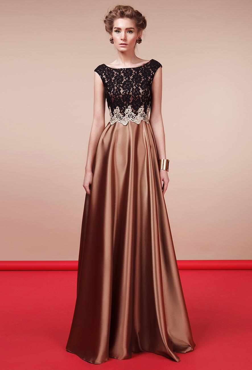 Платье из атласа   Купить GraceEvening.ru Москва   Платье А-силуэта d5ef55d7284