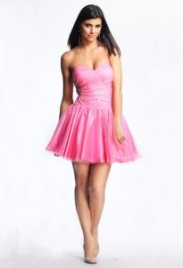 Платье на выпускной короткое с ремнем