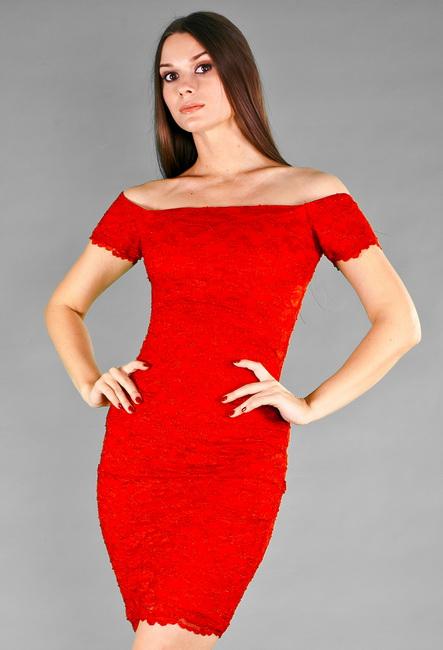 Короткие вечерние красные платья фото