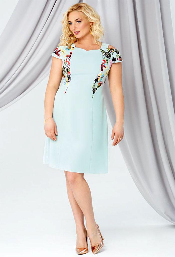 Платье с напуском для полных женщин