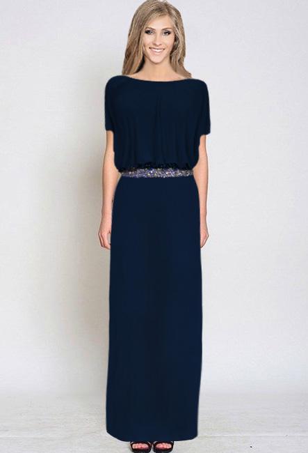купить вечерние платья для полных 2015 темно-синие в Москве