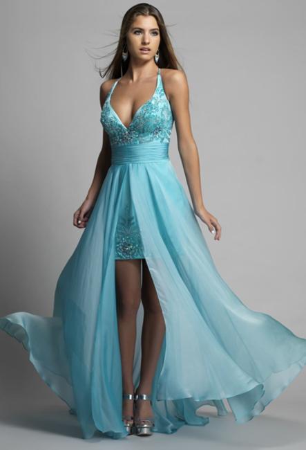 Длинное платье с коротким передом фото