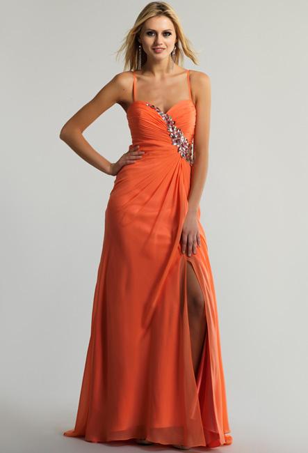 Оранжевое вечернее платье Паола - GraceEvening.ru (Москва) 205da5c452c