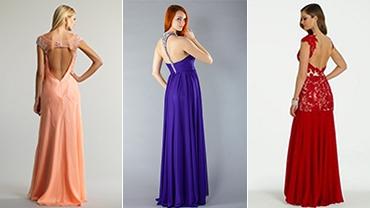 Бежевые коктейльные платья с голой спиной